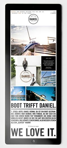 Hotel Daniel - Web Design by moodley brand identity , via Behance