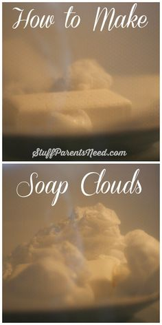 Science meets frugal fun! How to make soap clouds.