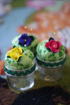 Pin Cushion Garden Jars