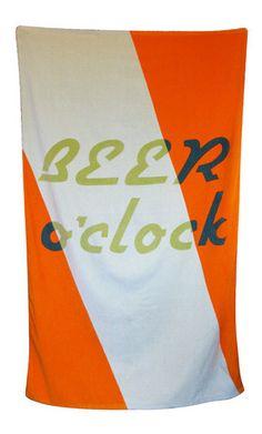 BEER o'clock Beach Towel X Jon Campbell