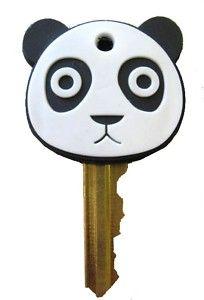 Cute Panda Key Cover Cap