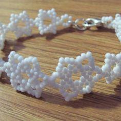 Snowflake Bracelet Pattern, Beading Tutorial in PDF