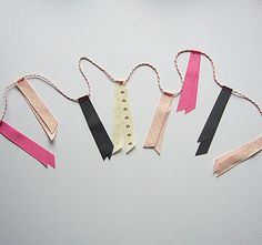 Ribbon garland for your wedding day