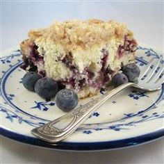 """Grandma's Blueberry Buckle   """"This is the recipe that my Grandmother handed down to me. I always make it during blueberry season. My guests just love it!"""""""