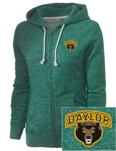 Winter is about to hit; are you ready? // #Baylor women's full-zip hooded sweatshirt, from prepsportswear.com