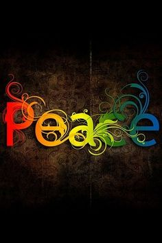 Peace for all. All races, all colors, all earthly beings, and others. Peace Rainbow Word ♥♥♥
