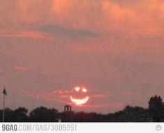The sun smiles at me