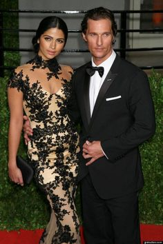 Congrats to Matthew McConaughey and beautiful girlfriend Camila Alves on their wedding this past weekend. (6/9/12)-what a beautiful couple!