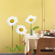 Daisies Flower Wall Decal
