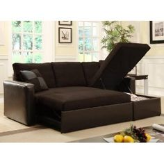 #5: Adjustable Sectional Sofa Bed with Storage Chase