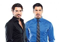 jonathan and drew scott - handsome twins