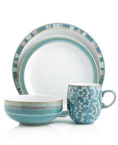 Denby Dinnerware, Azure Collection - Casual Dinnerware - Dining & Entertaining - Macy's