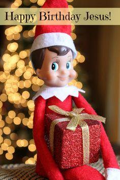 Elf on the Shelf - Happy Birthday Jesus  - Christmas Fun with our Elf-on-the-Shelf! - Busy Kids=Happy Mom