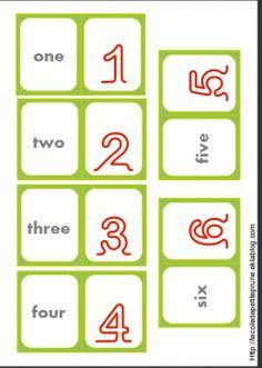 """Des cartes """"nombres"""" pour réviser en Anglais"""