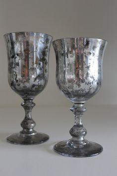 Supplies: Krylon Looking Glass Mirror  -  Like Spray Paint  -  Metallic Gold Acrylic Paint  -  Metallic Silver Acrylic Paint