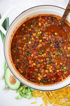 Taco Soup - this soup is awesome! It's like a loaded chili and your whole family will love it!