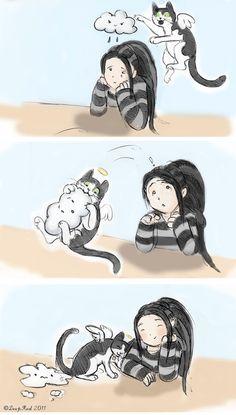 A kitty's job...<3