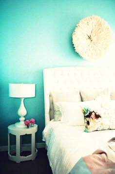 Bedroom // {White & Aqua: for Sony Vaio E Series notebooks : www.sony.com.au } #sonyvaio