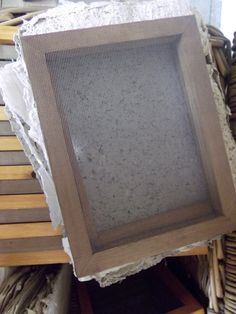 A5 Mould and Deckle for Papermaking by thehappyendings on Etsy, £17.00