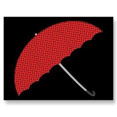 Umbrella Post Card