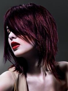 Razor-Cut Layered Hair Styles - Graduation of the strands is and will