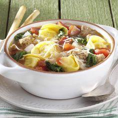 soups, food, italian tortellini, rustic italian, drink recipes, homes, soup recipes, famili favorit, tortellini soup