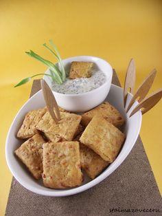 Krekeri sa sirom i sirni namaz sa sremušem
