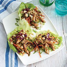 Mu Shu Chicken Lettuce Wraps | CookingLight.com #myplate, #protein, #veggies