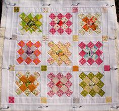 Granny Squares mini quilt