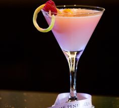"""""""Pretty In Pink"""" Cocktail In The Bar - A special pink-hued cocktail, """"Pretty in Pink,"""" made of Stoli Vanilla vodka, lychee puree, raspberries and a splash of lemon juice is available for the month of October in The Bar. #PiP"""