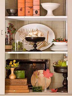 Decorating a shelf