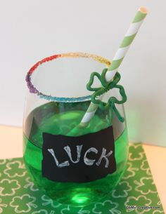 Kids St. Patty's Day Drink. I have to try this with my daughter.