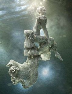 Ethereal Underwater Fashiontography  Zena Holloway Models Are Heavenly