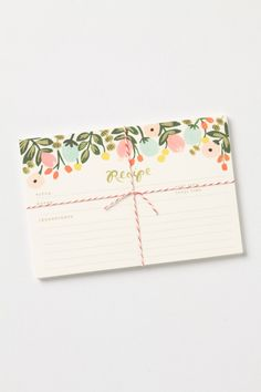 Just Picked Recipe Cards from Anthropologie.com