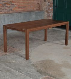 Walnut and cherry dining table