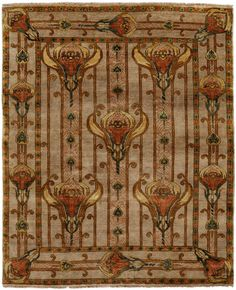 Arts & Crafts Series - Field Lillies PC56A Rug @ Modern Bungalow