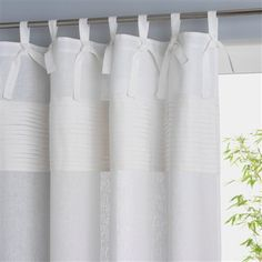 Linen Tab Top Curtain, 5 Colours Grey+Purple/lilac+Brown+White+Grey