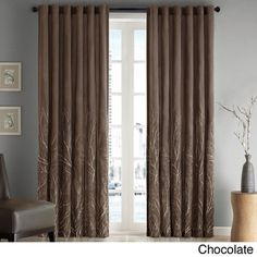 Madison Park Eliza Faux Silk Curtain Panel   Overstock.com Shopping - Great Deals on Madison Park Curtains