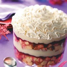 Cranberry-White Chocolate Trifle Recipe from Taste of Home -- shared by Janet Varble, Harrisville, Utah