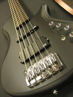 The new Brubaker Brute Series MJXSC-5 Single Cut Bass in matte black!