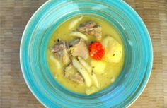 Traditional Caribbean soup. Click for recipe and cooking demo