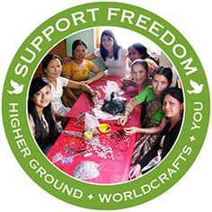 @WorldCrafts Support Freedom Stories  {Higher Ground ~ Nepal} When June and Leta lost their jobs due to civil unrest in Nepal, they came to Higher Ground bakery. There they were welcomed and trained in the culinary arts but had a secret gift for making jewelry. With little education but an abundance of talent, June and Leta were able to create a new jewelry making branch of Higher Ground that allows women like them to provide for themselves. #WCArtisans #fairtrade #supportfreedom