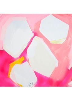 Pink Geo Print by Britt Bass