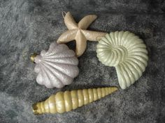 Ceramic Seashell Party Favors set of four