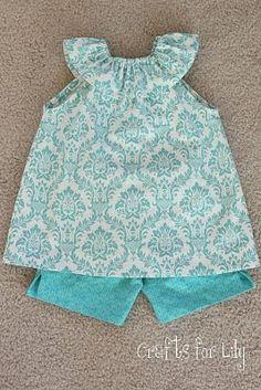 ruffle top - i LOVE this fabric!