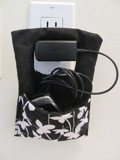 Sew a Hanging Wall Pocket for Charger Cords - Free Tutorial