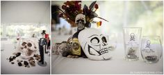 A skull-filled Halloween wedding with on-site ring tattoos | Offbeat Bride {Tacia's choice}