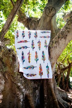 LOVE Anna Maria Horner's feather quilt.  And it's a free pattern!
