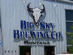 big sky, sky brew, breweri map, brew compani