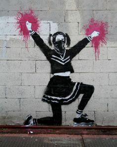 banksy-nyc-harlem-pompom-girl-1